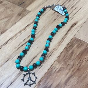 Lucky brand peace necklace NWT
